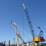 Pacific Marine Group barge crane mounting and A frame design
